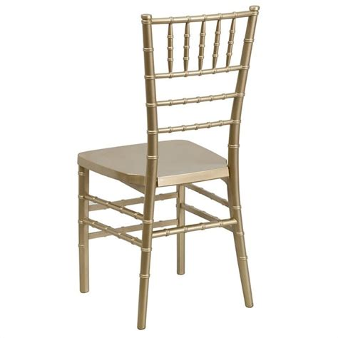 flash furniture gold resin stacking chiavari dining chair