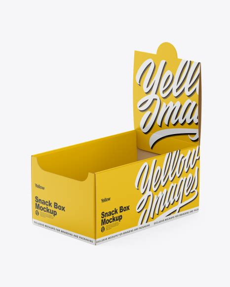 Easy to color different parts separately. Matte Snack Box Mockup in Box Mockups on Yellow Images ...