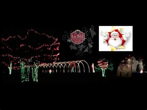 lu mil christmas lights lu mil vineyard christmas light show north carolina youtube