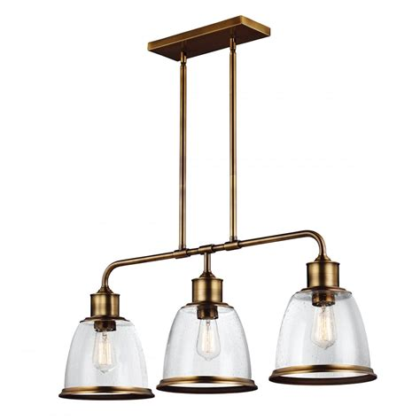 pendant lighting kitchen island linear kitchen island pendant in aged brass with 3 hanging 7406