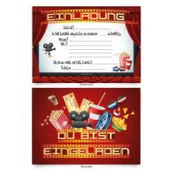 einladungskarten design einladungskarten 8 stück zum selbstausfüllen für kindergeburtstag kino ebay