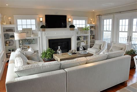 great room layout ideas cottage with neutral coastal decor home bunch interior design ideas