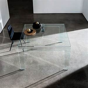 Table Carrée Verre : table design rectangulaire ou carr e en verre frog sovet 4 ~ Teatrodelosmanantiales.com Idées de Décoration