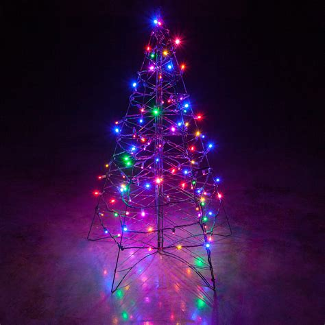 christmas lights for outside trees lighted multicolor led outdoor christmas tree