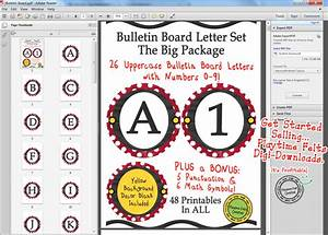 bulletin board letters country red with white polka dots With white bulletin board letters