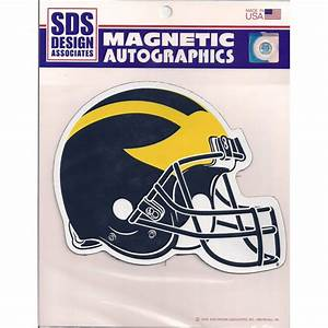 sds university of michigan football helmet car magnet 6 1 With kitchen cabinets lowes with football helmet decals stickers