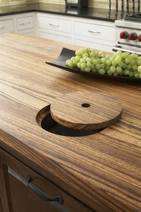 Küche Einrichten Arbeitsplatte Küche Holztextur