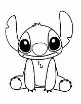 Coloring Disney Pages Stitch sketch template