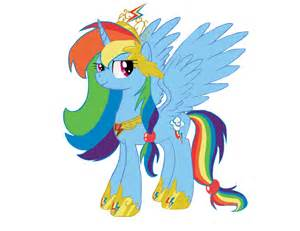 My Little Pony Rainbow Dash as Princess