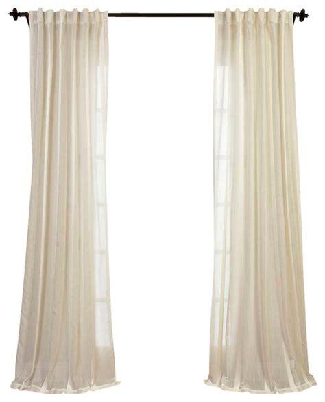antigua white striped linen sheer curtain