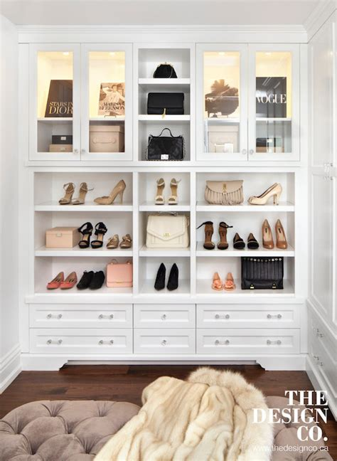 Cabinets for Handbags Transitional Closet The Design Company