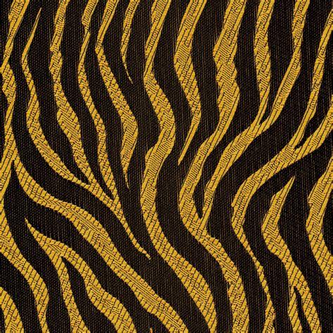 fabric polyester jacquard rte  tiger stripe gold