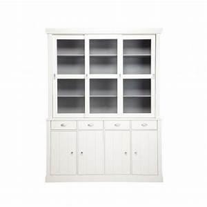 Vaisselier En Pin : buffet vaisselier blanc en pin jette par drawer ~ Teatrodelosmanantiales.com Idées de Décoration