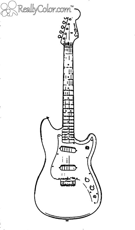 guitar coloring page embroidery cross stitch  red