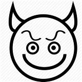 Devil Smiley Icon Emoticon Emoji Evil Angry Coloring Pages Imp Frown Outline Happy Template Iconfinder Icons Cheerful Laugh Happiness Positive sketch template