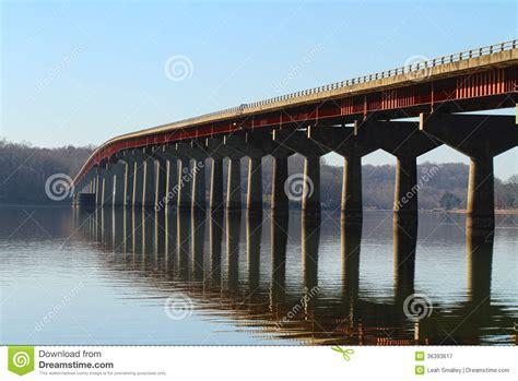 Natchez Trace Bridge Tenn River HDR Stock Image - Image ...