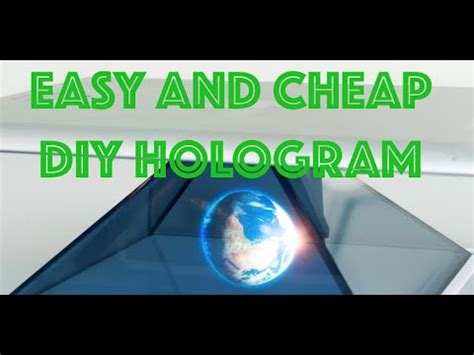 easy  cheap diy holographic display