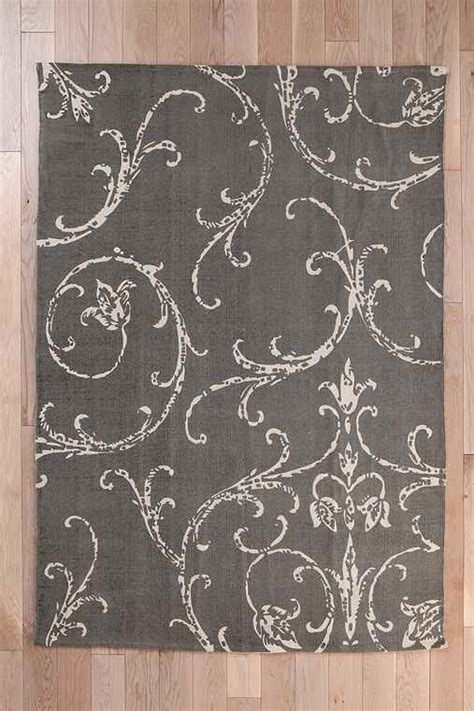 plum and bow rug plum bow filigree scroll handmade rug outfitters