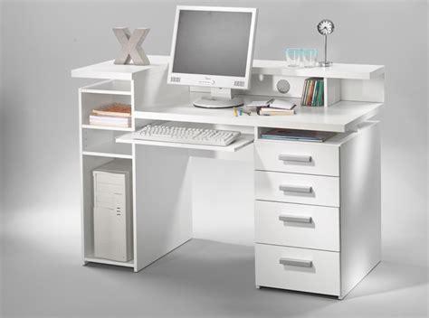 meuble bureau blanc bureau franzisca blanc