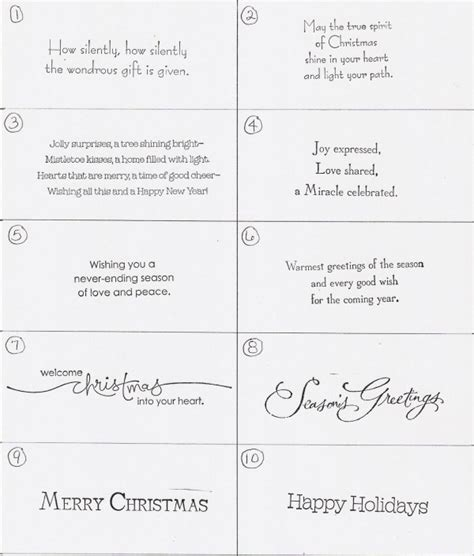 greeting card words of 25 exquisite christmas card sayings