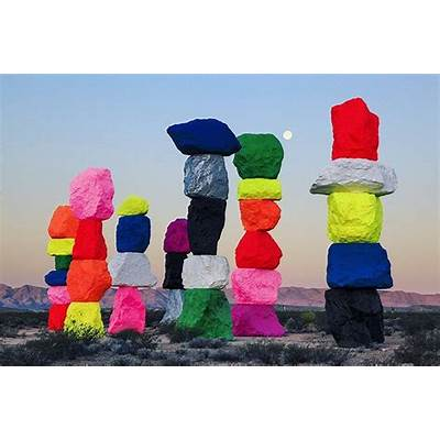 'Seven Magic Mountains' Gives Colorful Life to the Desert