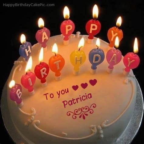candles happy birthday cake  patricia