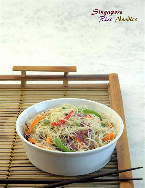 singapore rice noodles recipe  tarla dalal