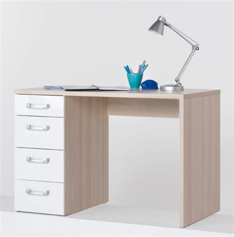 bureau basika bureau calisma frene clair blanc brillant