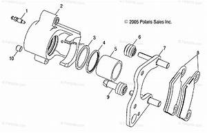 Polaris Side By Side 2004 Oem Parts Diagram For Front