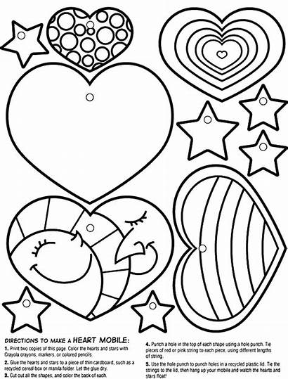 Coloring Heart Crayola Mobile Pages Valentine Hearts