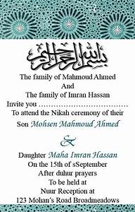 muslim shadi card sample prepare weddings With format of muslim wedding invitation card