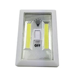 3w cob led wall switch light battery operated low energy