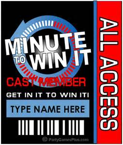 Minute to Win It Invitation