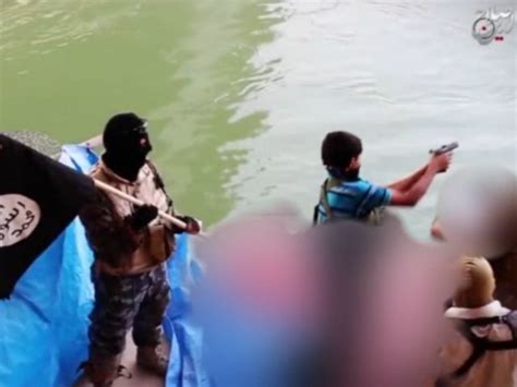 isis video  year  boy tosses bodies  bloody