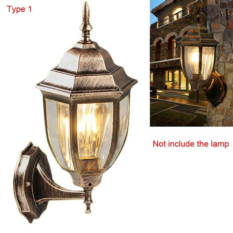 aluminum vintage villa garden outdoor led wall sconce