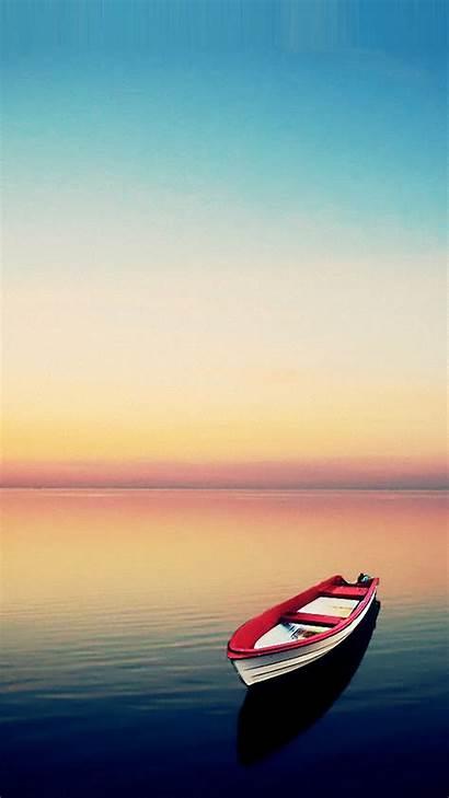 Wallpapers Smartphone Boat Sunset Smartphones Getphotos Phone