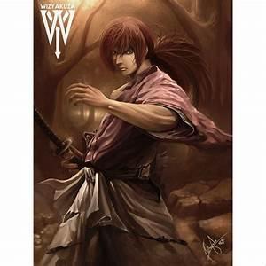 Himura Kenshin painting from Rurouni Kenshin (Battousai ...