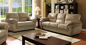 Jaya sofa cm6503lb in light brown microfiber fabric w options for Light brown microfiber sectional sofa