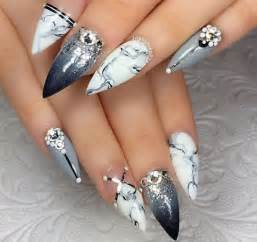 Pointy acrylic nails stiletto and nail art