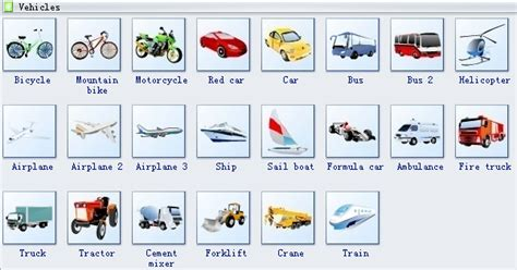 Vehicles Clip Art