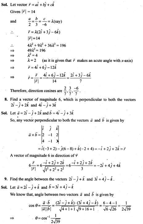NCERT Exemplar Problems Class 12 Mathematics Vector