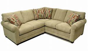 875 semi attached pillow back sectional by lacrosse for Sectional sofa attached back pillows