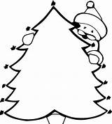 Coloring Tree Xmas Children sketch template