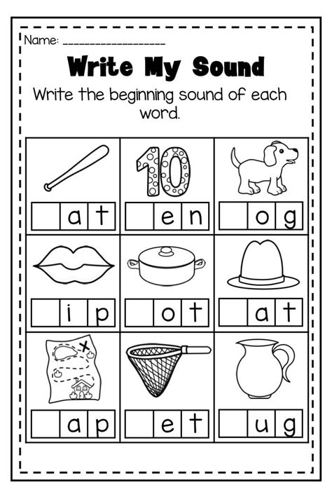 The 25+ Best Beginning Sounds Worksheets Ideas On Pinterest  Letter Sounds, Alphabet With