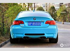 Baby Blue BMW E92 M3 Spotted in China autoevolution
