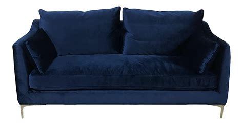 royal blue velvet sofa chairish