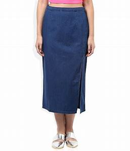 Buy Global desi Blue Cotton Skirt Online at Best Prices in India - Snapdeal