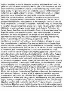 Generac Guardian Series 5875 20000 Watt Air Cooled Liquid