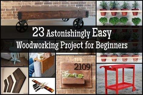 astonishingly easy woodworking project  beginners