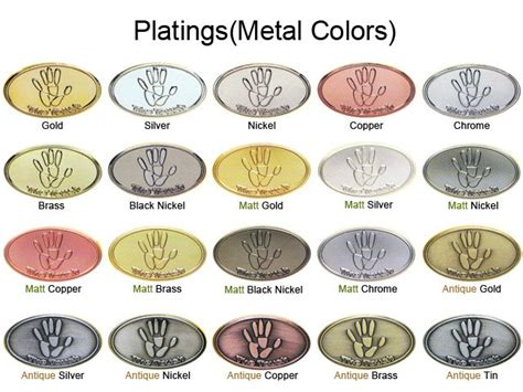 color of brass plating color